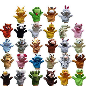 La faune main marionnette soft plush marionnettes jouet enfant Kid 12 styles  </span>
