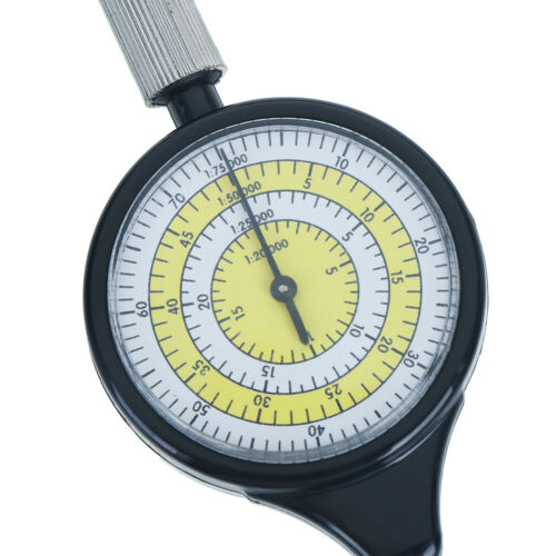Outdoor Hiking Camping Map Measuring Gauge Range Finder Meter Scale Compass.hc