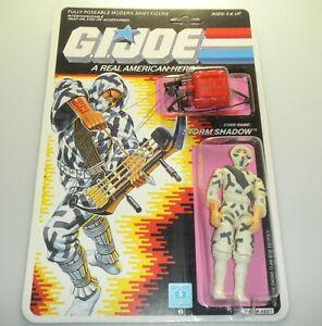 *RECARDED* 1988 GI Joe Storm Shadow v2 Complete Sealed *CUSTOM File Card Back*