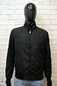 HOGAN-Uomo-Cappotto-Trench-Nero-Taglia-L-Giacca-Jacket-Men-039-s-Casual-black-Casual