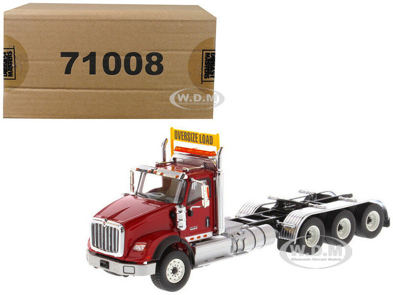 INTERNATIONAL HX620 DAY CAB TRIDEM TRACTOR rosso 1 50 BY DIECAST MASTERS 71008