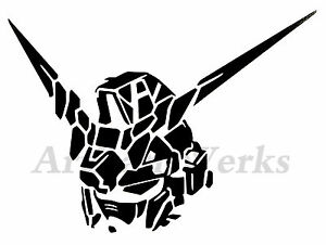 Unicorn Gundam Rx0 Head Vinyl Decal Sticker Robot Manga