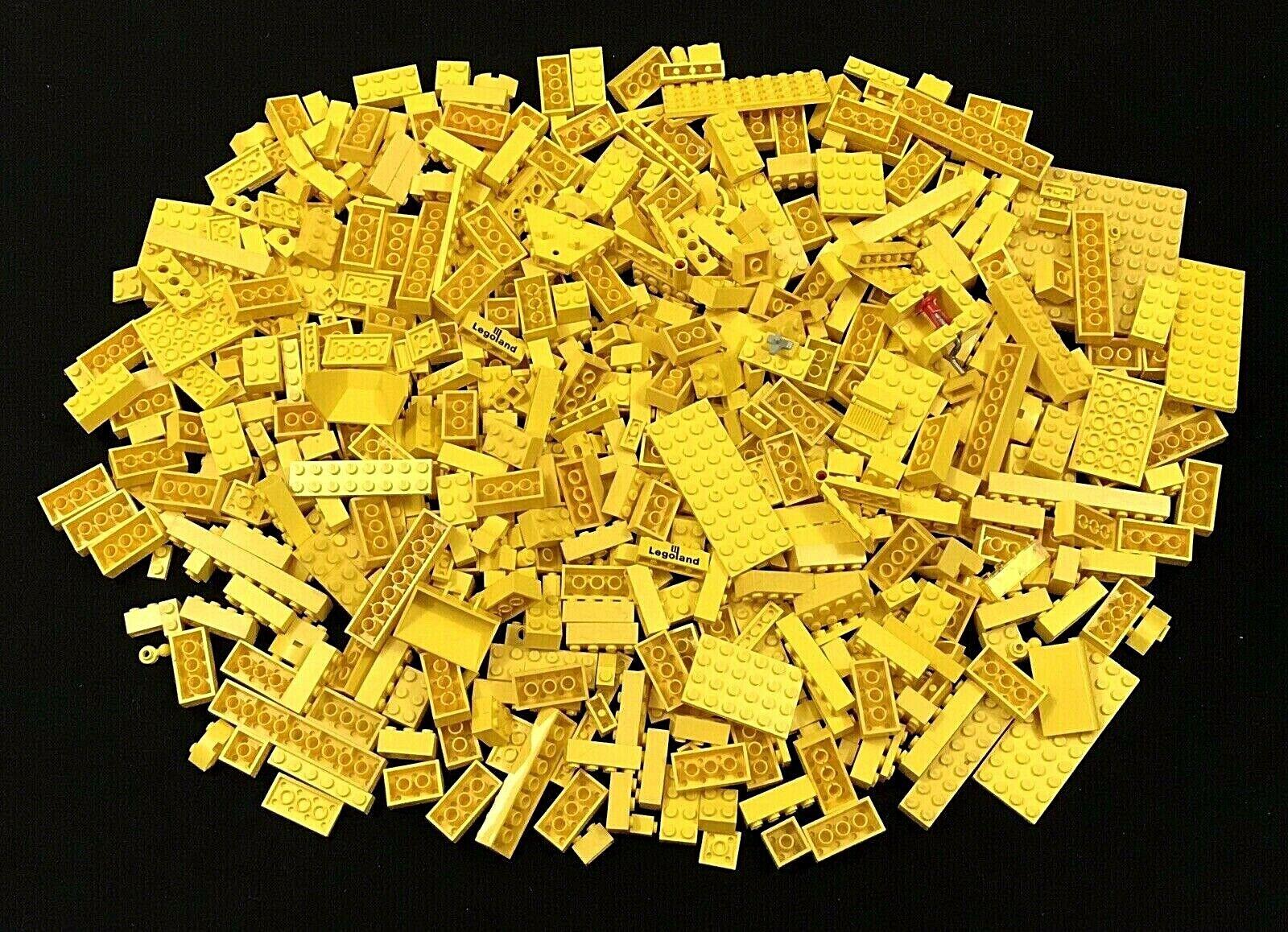LEGO Gelb BRICKS & PIECES - 2+ POUNDS - VINTAGE & NEW - BULK ASSORTSieT LOT