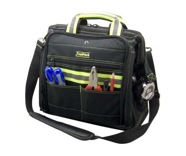 Reflektierende Werkzeugtasche Profi Tasche Werkzeugkoffer FLUO Toolpack 362.050