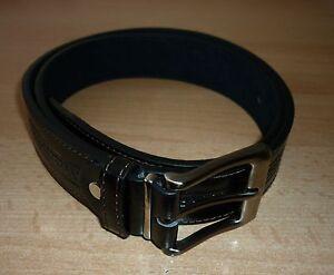Details Zu Leder Gürtel In Schwarz Bundweite Größe 75 Bis 95 Cm G2