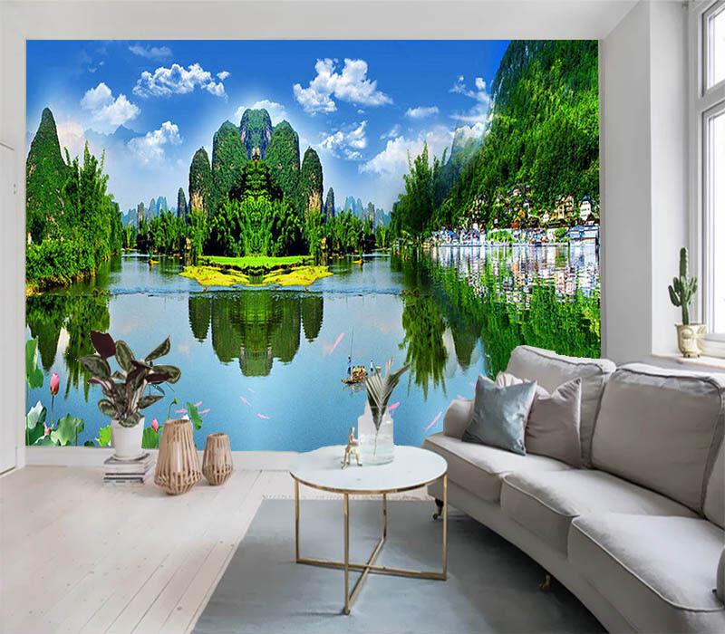 Plentiful Green Wood 3D Full Wall Mural Photo Wallpaper Printing Home Kids Decor