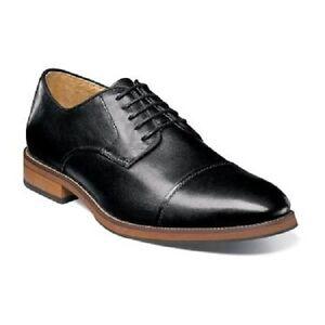 Florsheim-Blaze-Cap-Toe-Oxford-Mens-shoes-Black-Leather-Cushioned-14199-001