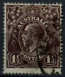 Australia 1918-23 Sg#58, 1.5d Black-brown Kgv Used #d48585