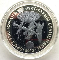 Kazakhstan 2012 Space Station Mir 500 Tenge Silver Tantalum Coin,Proof