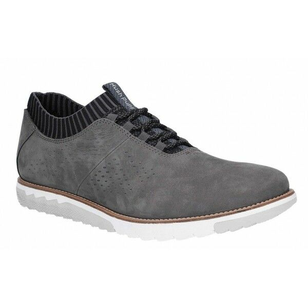 Hush Puppies EXPERT KNIT OXFORD Mens Leather Casual Trainers schuhe Dark grau