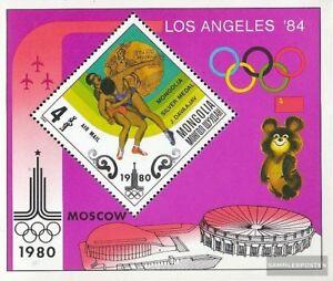 Mongolei Block63 (kompl.Ausg.) postfrisch 1980 Olympische Sommerspiele ´80