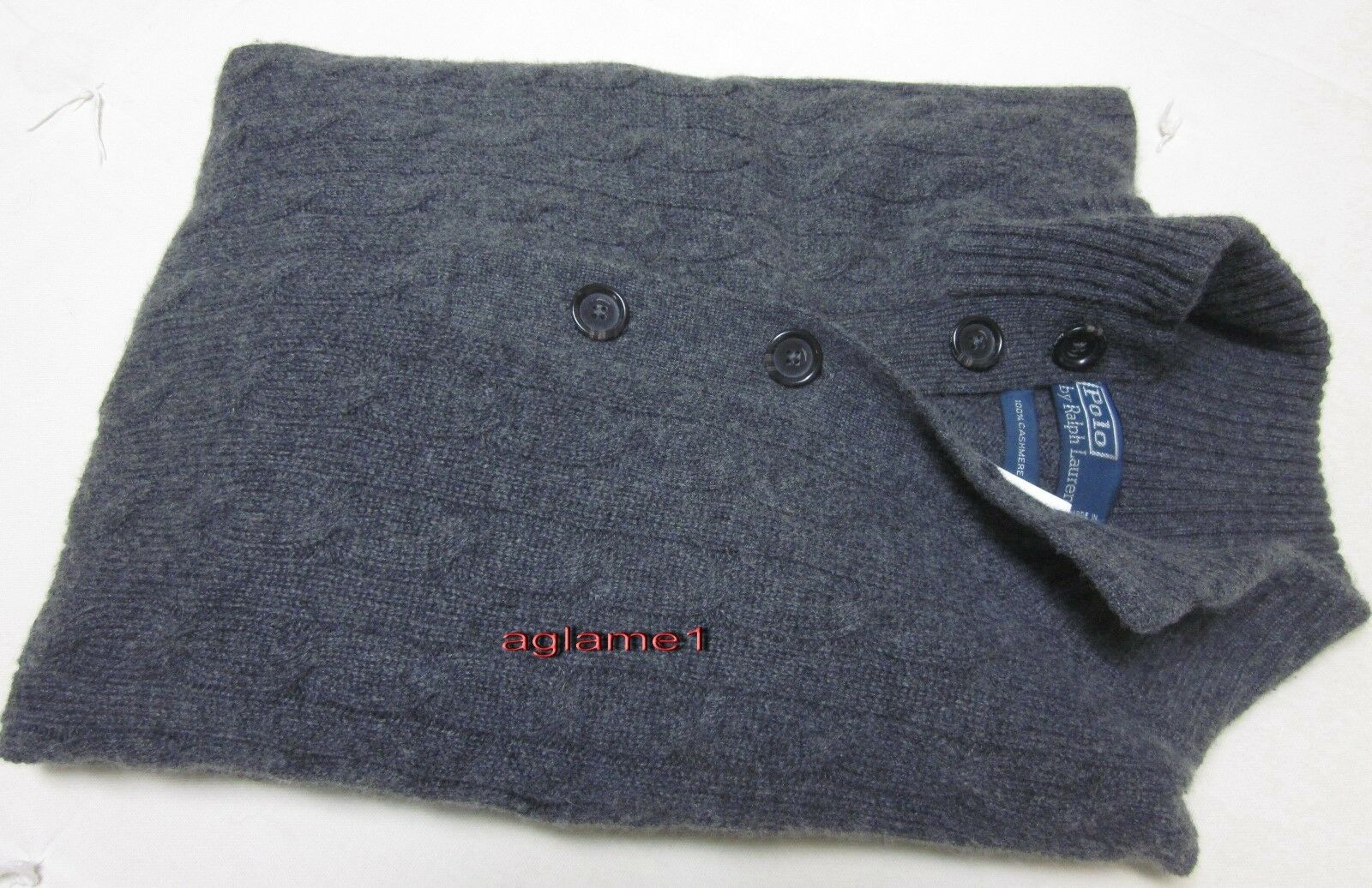 450 POLO RALPH LAUREN 100% cashmere Italian Yarn  SWEATER 2XL XXL grau