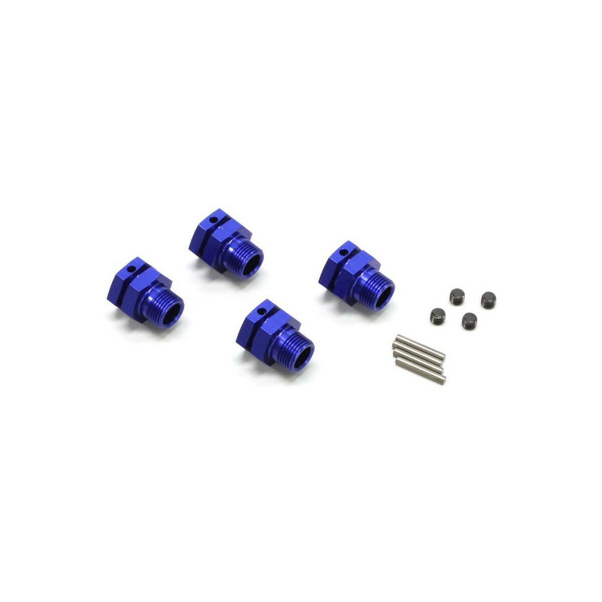 Hex Hub Middle bluee Set of 4 Kyosho Ifw-327bl