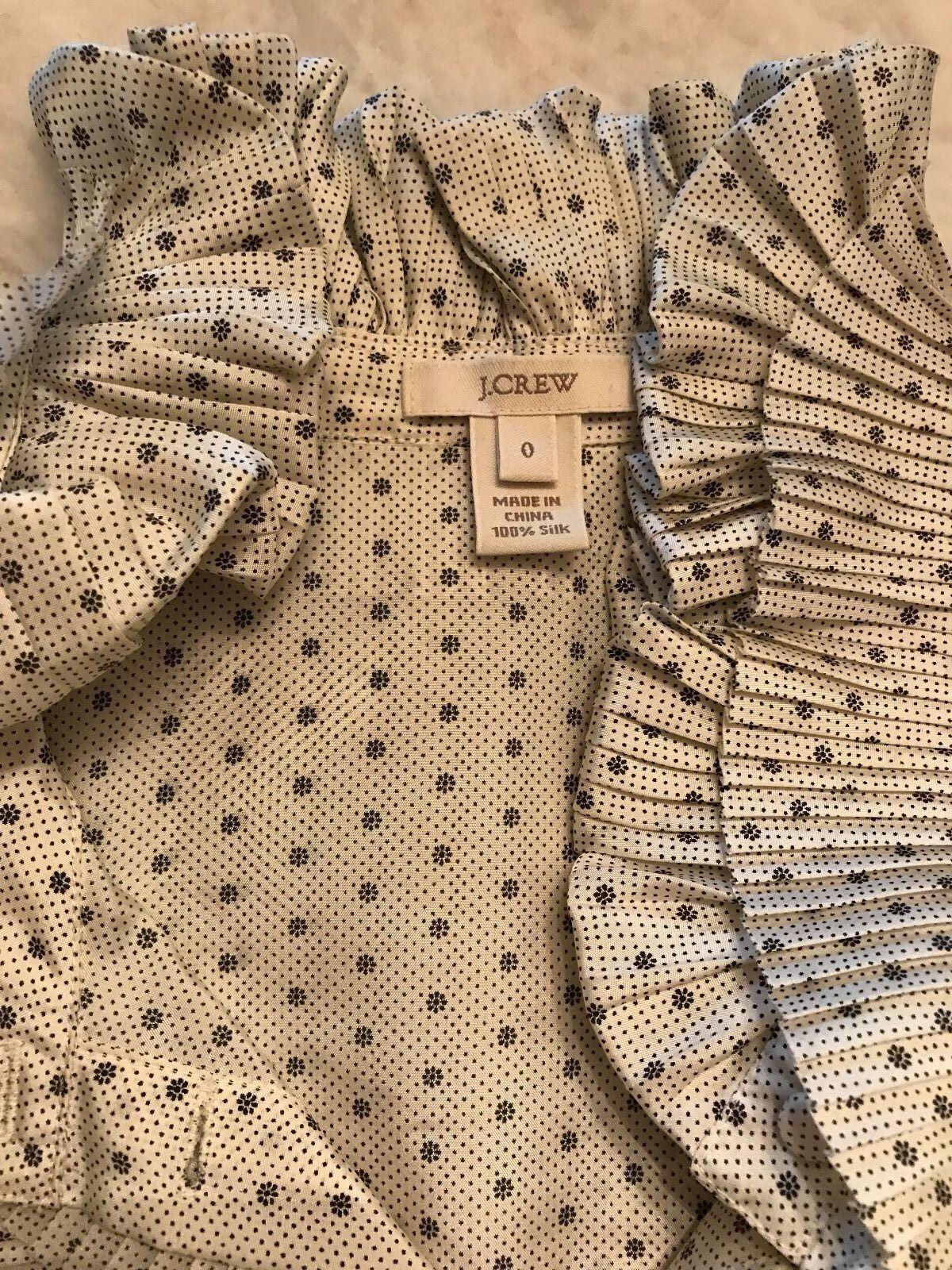 J.CREW Sleeveless Ruffle Collar Silk Sleeveless B… - image 3