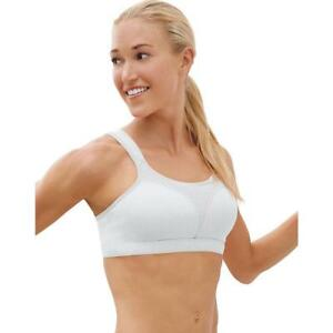 42f418863897d Champion Women s Spot Comfort Full Support Sports Bra Black 34c 34 D 34d  White