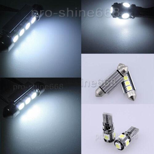 Canbus White LED Interior Package Light Bulb 10pcs KIT Fit VW Polo MK4 9N 09 M