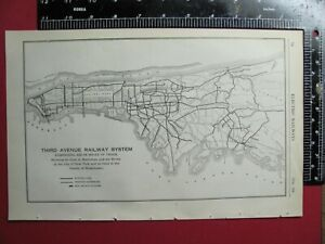 Map Of New York Rail System.Details About Orig 1917 Third Avenue Railway System Map New York City Rr History