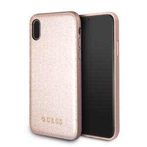 Details zu Guess IriDescent iPhone XR(6'1) SCHUTZHÜLLE Back Case Cover Rose Gold