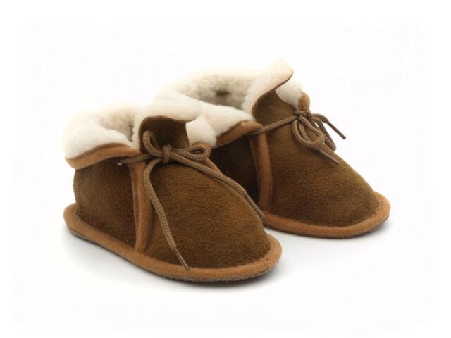 BABIES/TODDLERS 100% SHEEPSKIN BOOTIES Portuguese, handmade, natural tan