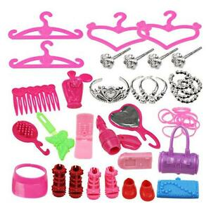 Jewelry-Necklace-Earring-Crown-Accessory-For-Barbie-Gift-Doll-42pcs