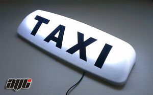 24-034-WHITE-LED-MAGNETIC-TAXI-ROOF-LIGHT-SIGN-TAXI-METER-TOPSIGN-CAB-SIGN-BOX