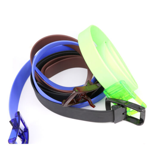 Buckle Silicone Rubber Leather Belt Casual Belts Belts Waistband Silicone Belt