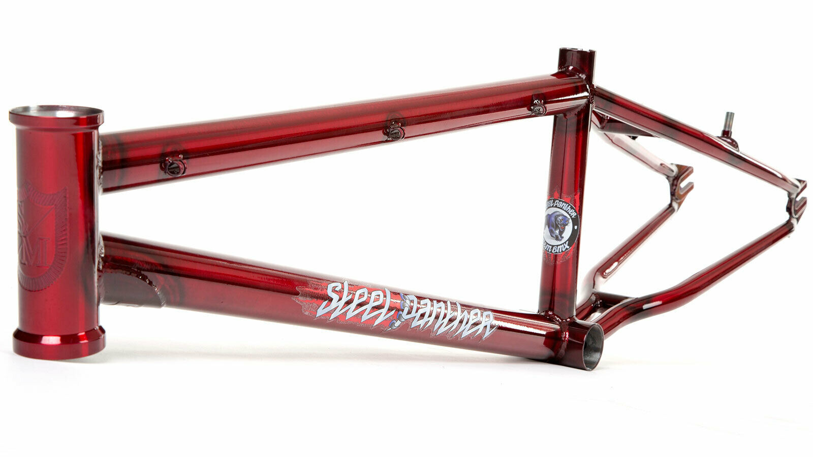 S&M BIKES STEEL PANTHER RACE FRAME TRANS CANDY rosso  21.75 BMX BIKE 21.75 RACING