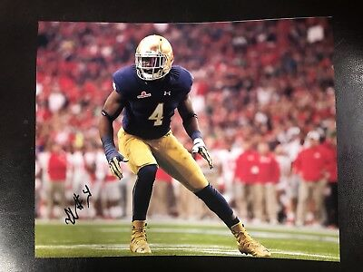 Sports Mem, Cards & Fan Shop Photos Hospitable Te'von Coney Autographed Notre Dame Football 8x10 Photo Coa Playoffs C Activating Blood Circulation And Strengthening Sinews And Bones