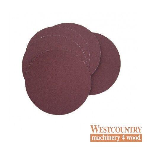 """Lot de 5-s/' adapte Velcro Grain 80 Charnwood SD06V 9/"""" Crochet et Boucle de ponçage disques"""
