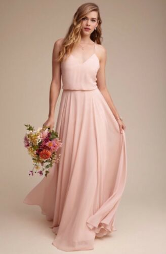 NEW $285 Jenny Yoo Inesse Gown Bridesmaid Dress in Blush