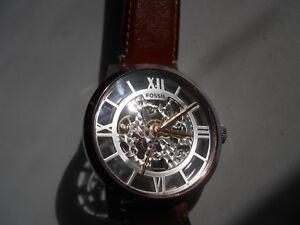 Armbanduhren Armband- & Taschenuhren Fossil Automatik Herren Wasserdicht Braun Lederband & Analog Watch.me-3041