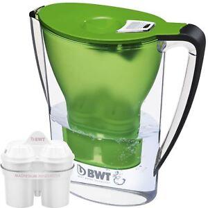 BWT-Caraffa-Filtrante-acqua-2-7-L-verde-con-1-x-magnesio-Mg2-lunga-120-L-CARTUCCIA