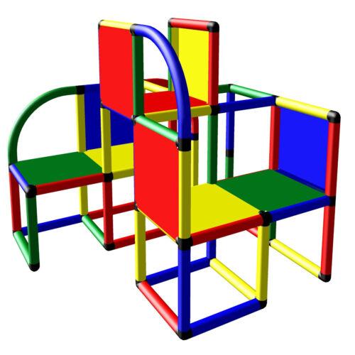 Moveandstic Kletterturm Spielturm Profi Baukasten Klettergerüst Spielgerüst 6626