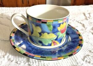 Image is loading PTS-Interiors-FANTASIA-Flat-Cup-&-Saucer-2- & PTS Interiors FANTASIA Flat Cup u0026 Saucer 2 pieces Dinnerware ...