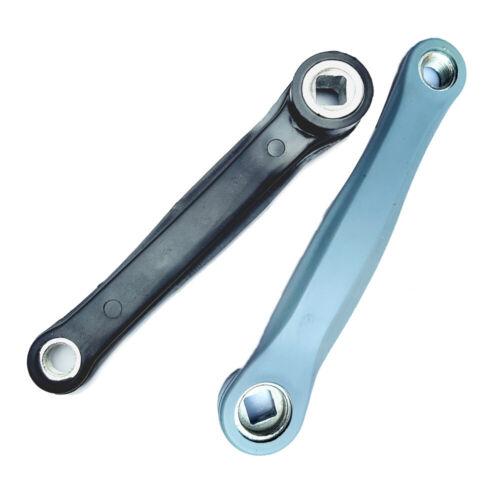 1x Aluminium Rhombus Loch Links Kurbel Arm für Mountain Fahrrad 170mm