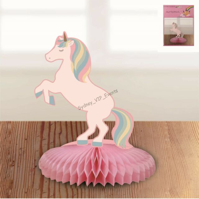 SMALL UNICORN HONEYCOMB TABLE DECORATION CENTREPIECE BIRTHDAY PARTY GIRL FANTASY