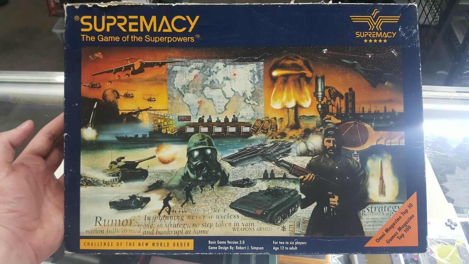 Supremacy Board Game of Superpowers.  Brand New Contents  See Pics