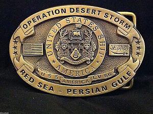 USS-America-Custom-Navy-Belt-Buckle-C-V-66-Solid-Brass-Desert-Storm