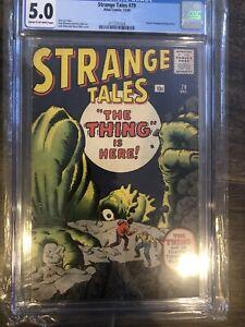 STRANGE-TALES-79-CGC-5-0-Kirby-Ditko-cvr-art-Dr-Strange-prototype-Atlas-Comics