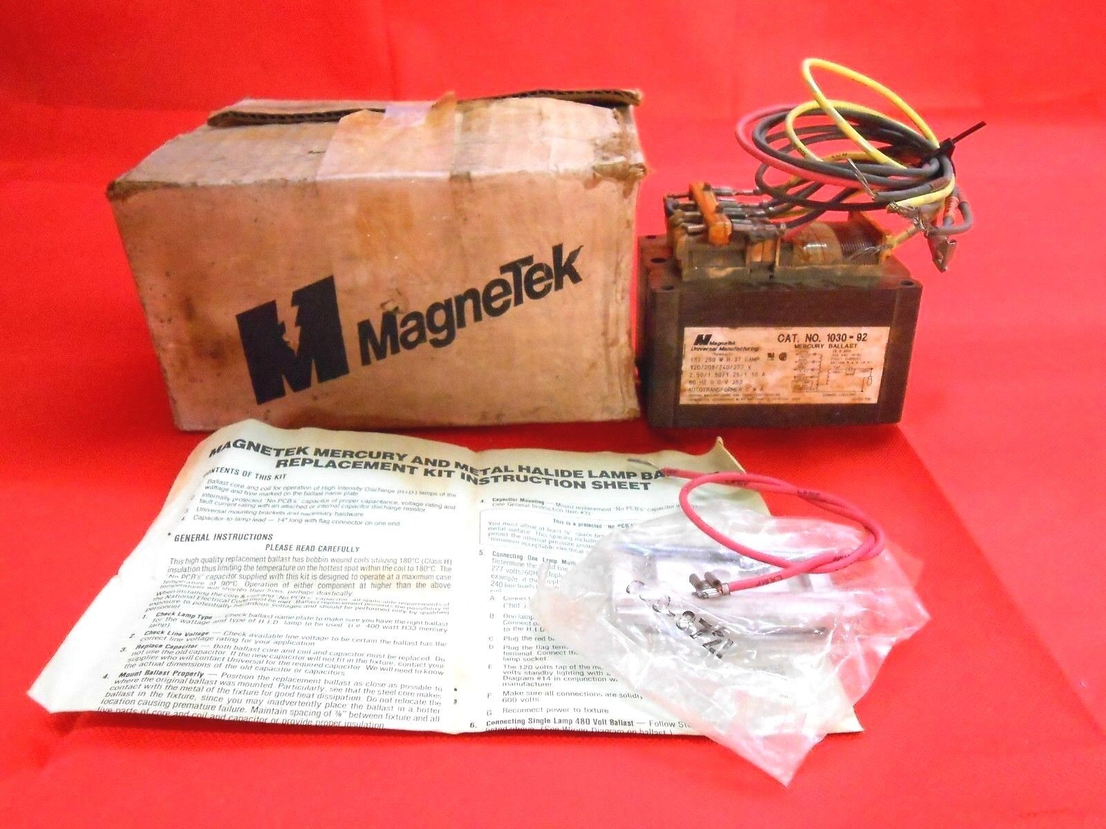 Magnetek 1030-92 Mercury Ballast 120/240v 2.5a on
