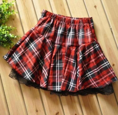 Hot Japanese High School Girl Sailor Uniform red plaid pleated skirt
