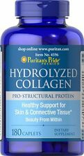 Hydrolyzed Collagen 1000 mg x 180 Caplets Puritan's Pride  ** AMAZING PRICE **