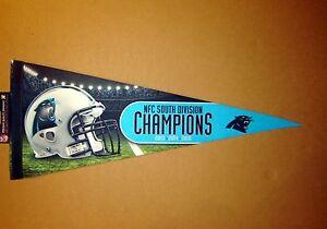 2015 Carolina Panthers South Division Champions NFL Football Pennant