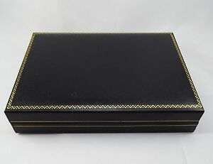 Black Leatherette Jewelry Case Storage Display Organizer Necklace Gift Box