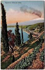 1929 Taormina - Vista dell'Etna dest. San Bellino - FP COL VG