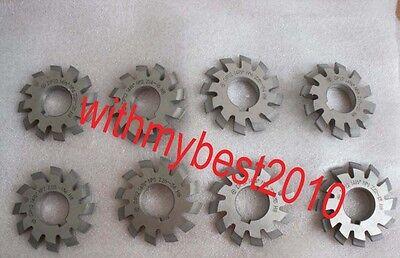 Lot 1Set 8pcs Dp8 14-1//2 Degree #1-8 Involute Gear Cutters 14.5° Degree PA