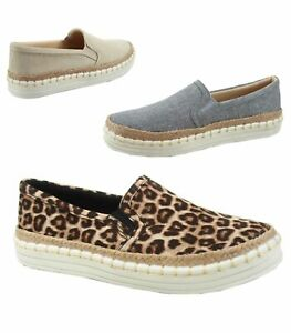 Women-039-s-Soda-Leopard-Gray-Taupe-Espadrilles-Slip-On-Loafer-Shoes-Size-6-11-NEW