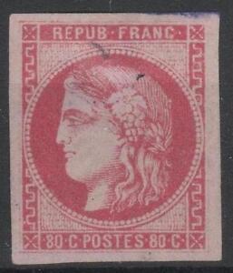 FRANCE-STAMP-TIMBRE-49-034-CERES-BORDEAUX-80c-ROSE-1870-034-NEUF-x-A-VOIR-M648