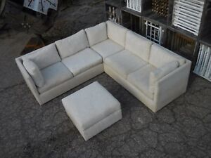 Image Is Loading 60 039 S Vintage 3pc Sectional Sofa By