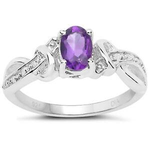 Plata-de-Ley-Ovalado-Anillo-Compromiso-Amatista-Diamante-Diamante-Hombros